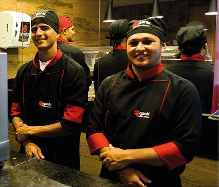 Funcionários do Restaurante Japonês Genki Sushi